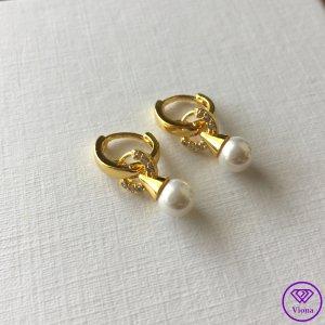 ♈️ 18k Vergoldeter Perlenohrringe
