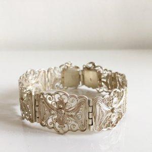 1910-1920er Jahre antik Jugendstil Art Deco Armband 835er Silber Ornamente Muster