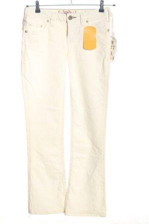 1921 Vaquero de corte bota blanco puro look casual