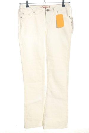 1921 Jeans bootcut crème style décontracté