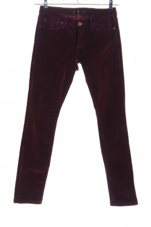 1921 Corduroy Trousers red casual look