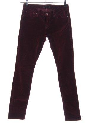 1921 Pantalone di velluto a coste rosso stile casual