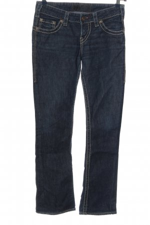 1921 Low Rise jeans blauw gestippeld casual uitstraling
