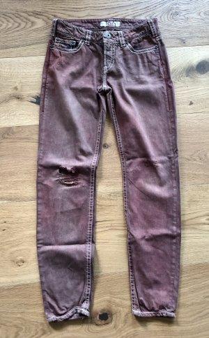 1921 Skinny jeans roodbruin-beige