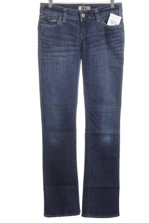 1921 Jeans slim bleu foncé-bleu acier style décontracté