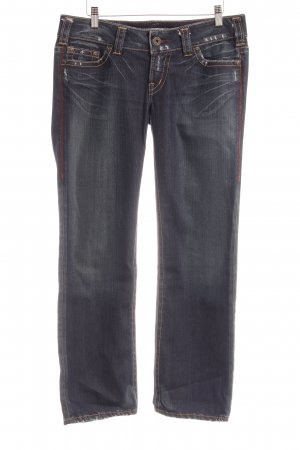 1921 Straight-Leg Jeans dunkelblau-graublau Webmuster Casual-Look