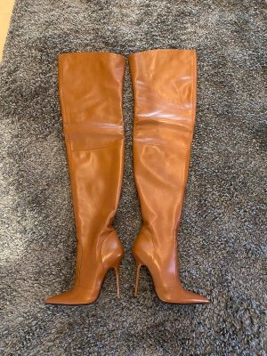 1969 Overknees brown-cognac-coloured leather