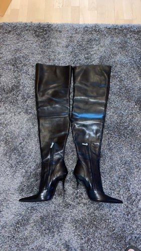 1969 Overknees black leather