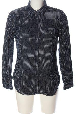 1969 Chemise en jean bleu-blanc motif de tache style décontracté