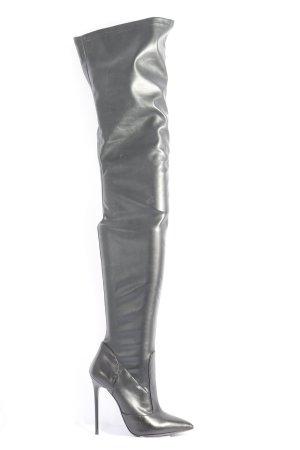 1969 Botas sobre la rodilla negro look casual
