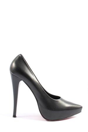 1969 Zapatos de punta negro estilo «business»