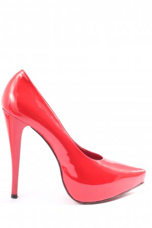 1969 Zapatos de punta rojo elegante