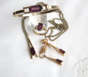 American Vintage Brazalete color oro-violeta oscuro