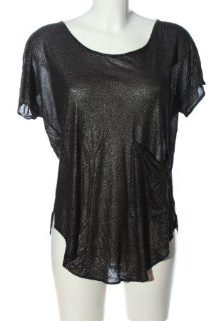 1971 Reiss Blusa brillante negro look casual