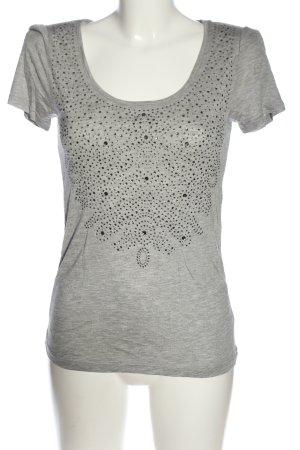 1971 Reiss T-shirt grigio chiaro puntinato stile casual