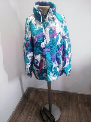 1980s/90s Numero Uno Vintage Jacke Oversize blau flieder türkis Gr. 40