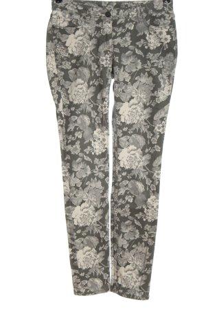 1982 Five-Pocket Trousers light grey-white allover print elegant