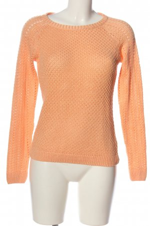 1982 Jersey de ganchillo naranja claro look casual