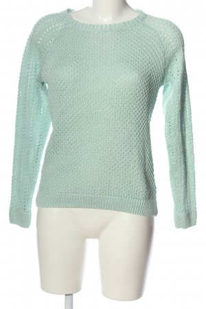 1982 Crochet Sweater turquoise casual look