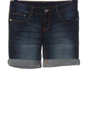 1982 Pantalón corto de tela vaquera azul look casual