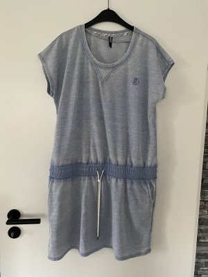1982 Robe en jersey bleu azur polyester