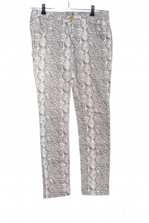 1982 Peg Top Trousers natural white-light grey animal pattern casual look