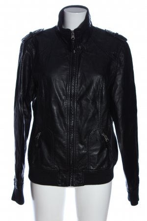 1982 Faux Leather Jacket black casual look