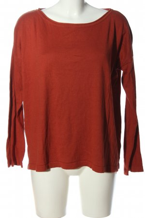 1982 Blusa de manga larga rojo look casual