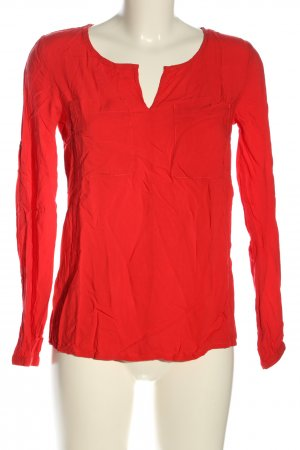 1982 Slip-over blouse rood casual uitstraling