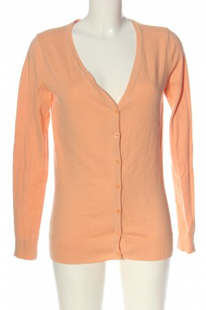 1982 Cardigan tricotés orange clair torsades style décontracté