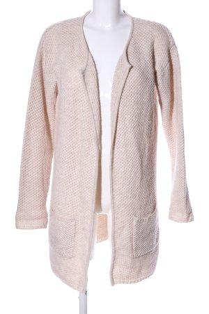 1982 Manteau en tricot blanc cassé style décontracté