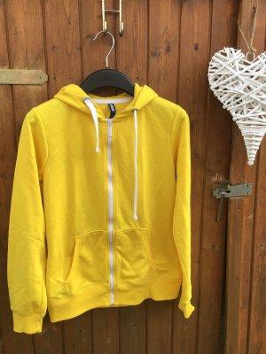 1982 Chaqueta con capucha amarillo-blanco Algodón