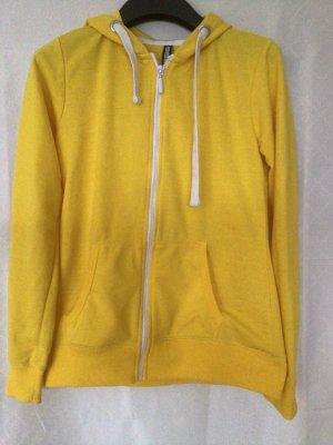 1982 Veste à capuche jaune-blanc coton