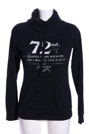 1982 Bluza dresowa czarny Wydrukowane logo W stylu casual