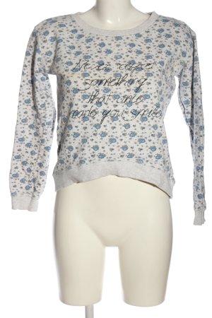 1982 Sweat Shirt light grey-blue allover print casual look