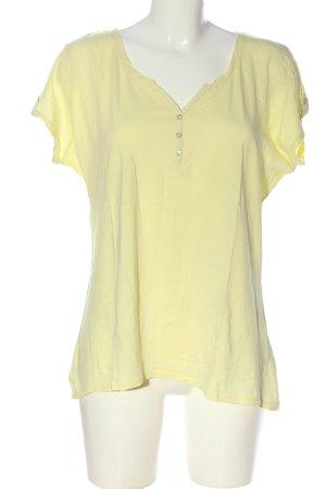 1982 T-shirt jaune primevère style décontracté