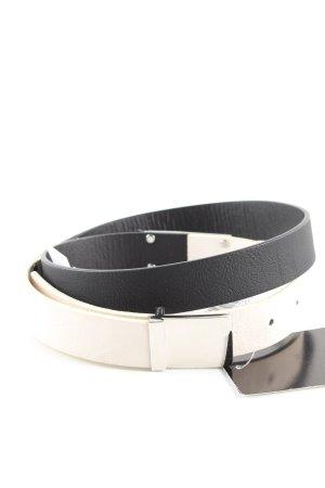 1982 Cinturón pélvico negro-blanco elegante
