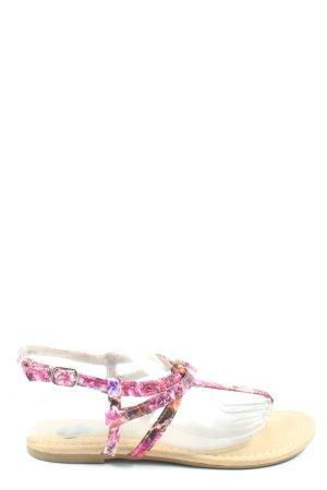1994 Sandales Dianette motif de fleur style décontracté