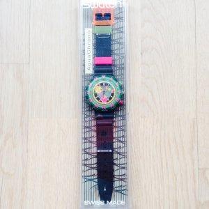 1994 Vintage Swatch Aqua Chrono, SBM102, Seppia