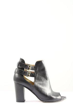19V69 ITALIA Peep Toe Pumps black-gold-colored casual look