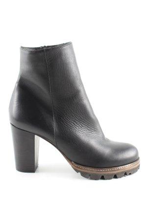 19V69 ITALIA Reißverschluss-Stiefeletten schwarz Casual-Look