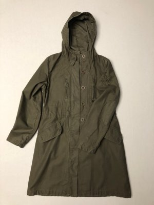 Roxy Abrigo con capucha gris verdoso