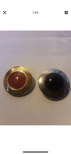 2 antike Tuch Clipse vergoldet