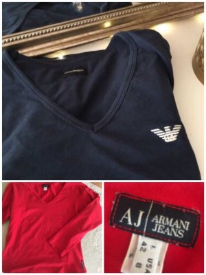 Armani T-shirt rosso-blu scuro