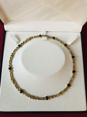 2 Armbänder in 14 Karat Gold als Collier zu tragen.