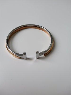 Bangle srebrny-w kolorze różowego złota