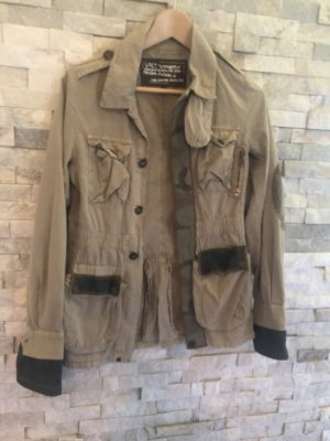 Outdoor Jacket olive green-khaki cotton