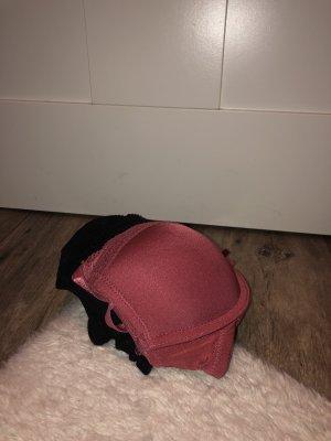 Censored Bra raspberry-red-black