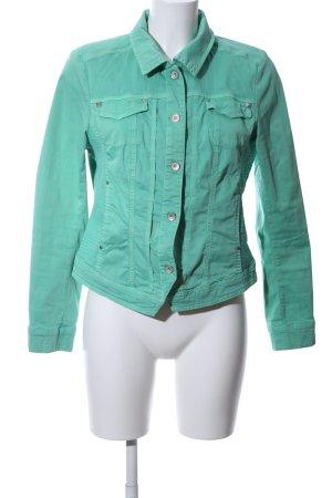 2-Biz Veste courte turquoise style décontracté