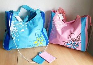 Borsa da shopping rosa-blu